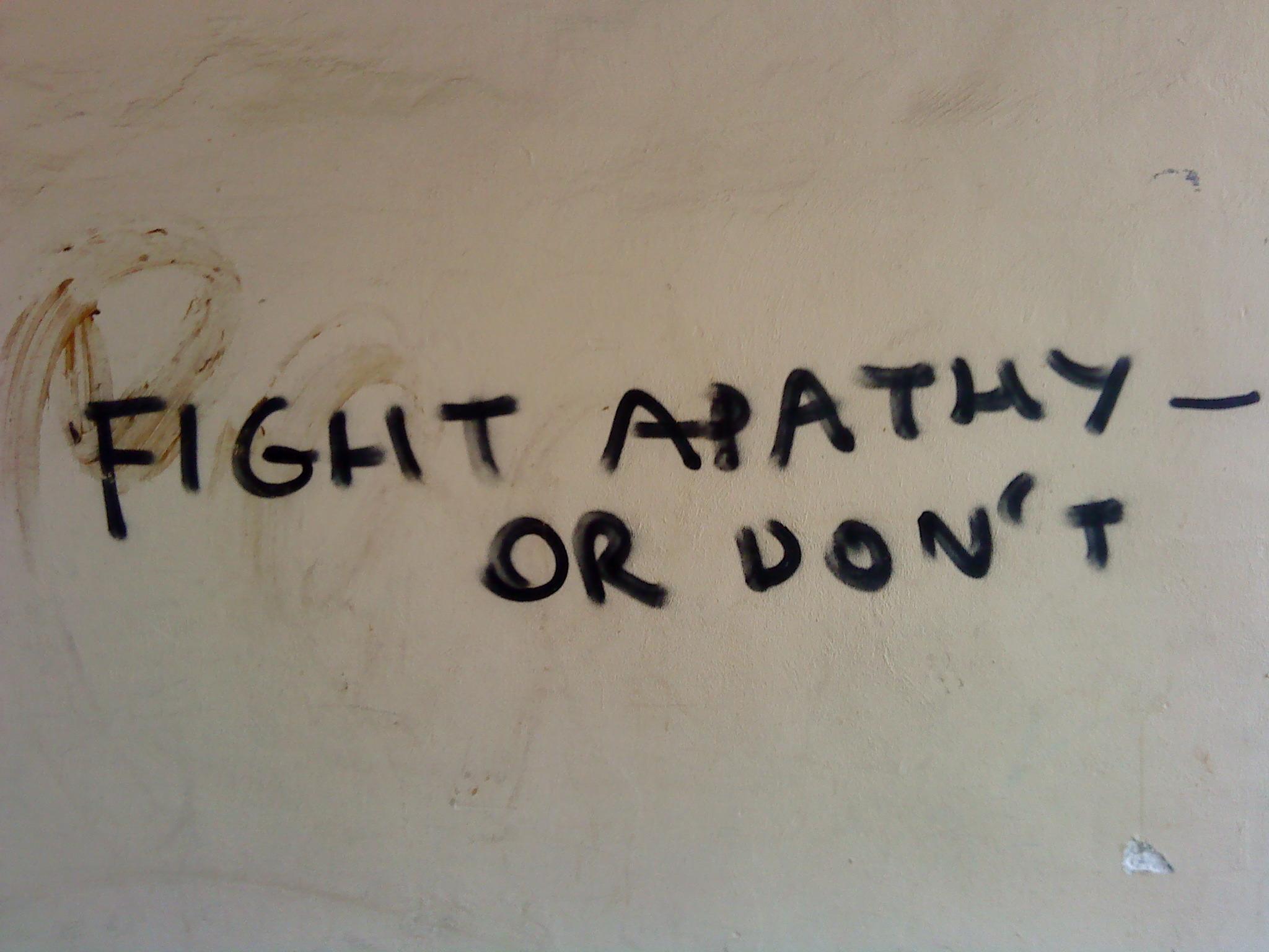 Apathie ist mir egal