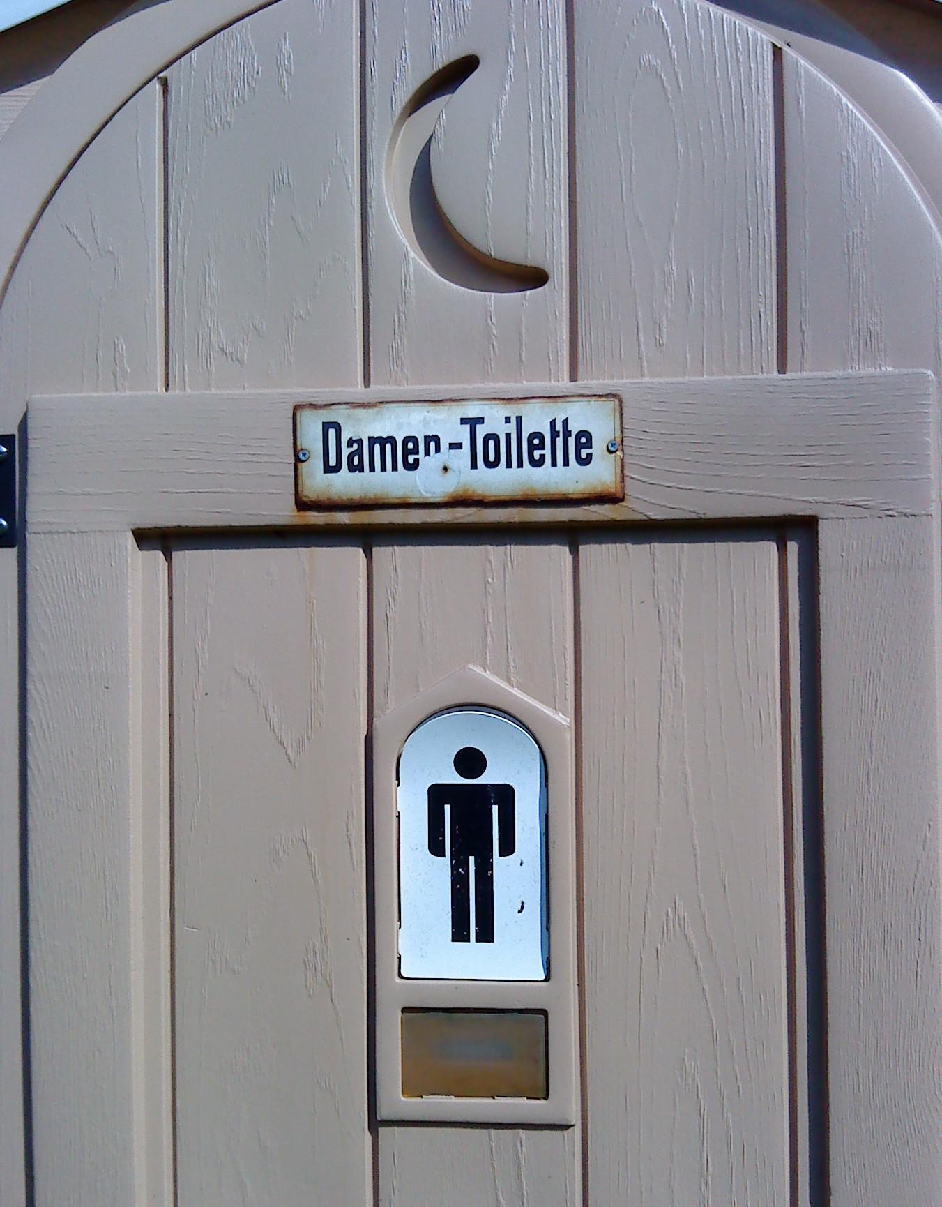 Toiletten-Piktogramm-Botschaften (I)