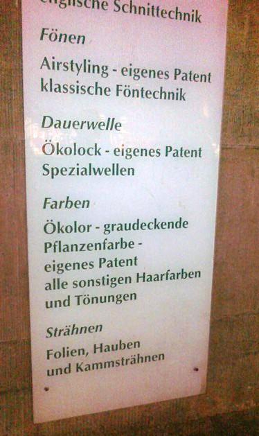 HAARige Wortspiele, eigenes Patent