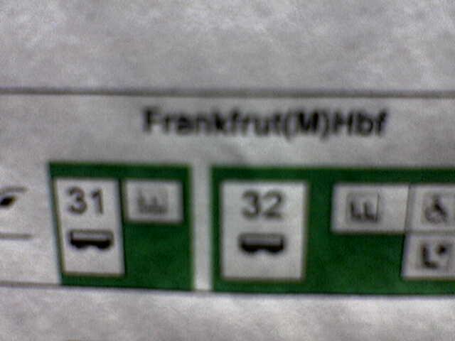 Nächster Halt: Frankfrut