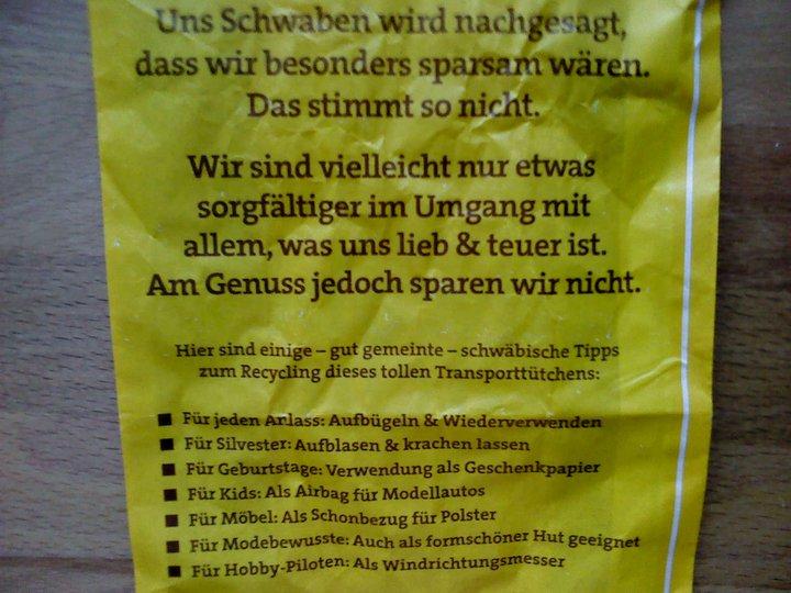 Schwäbisches Recycling