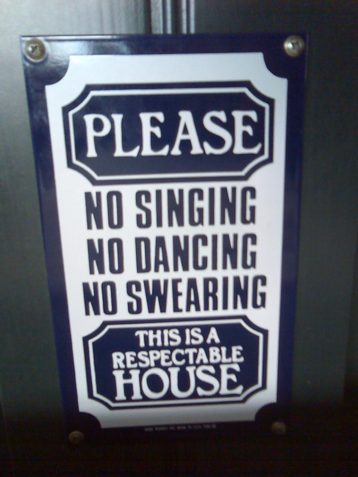 Sing-Tanz-Fluch-Verbot