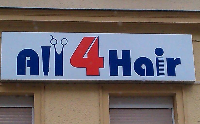 Alle vier Haare