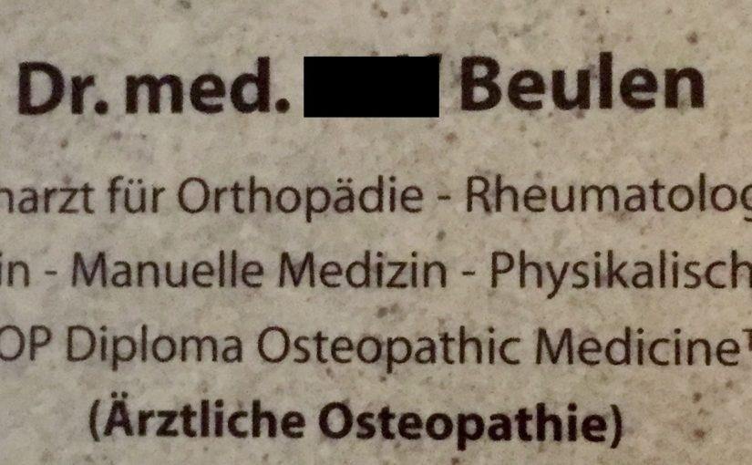 Der Arzt mit (oder für?) Auswölbungen